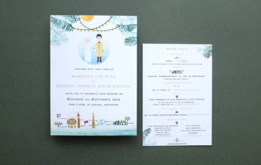Bladergoud persoonlijke trouwkaart