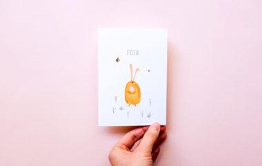 Bladergoud geboortekaartje